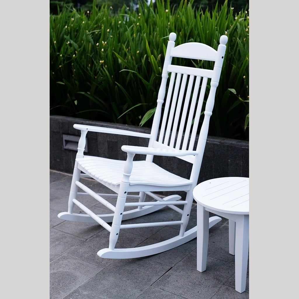 Cambridge Casual Alston Traditional Rocking Chair – White With Regard To Brady Traditional White Rocking Chairs (#7 of 20)
