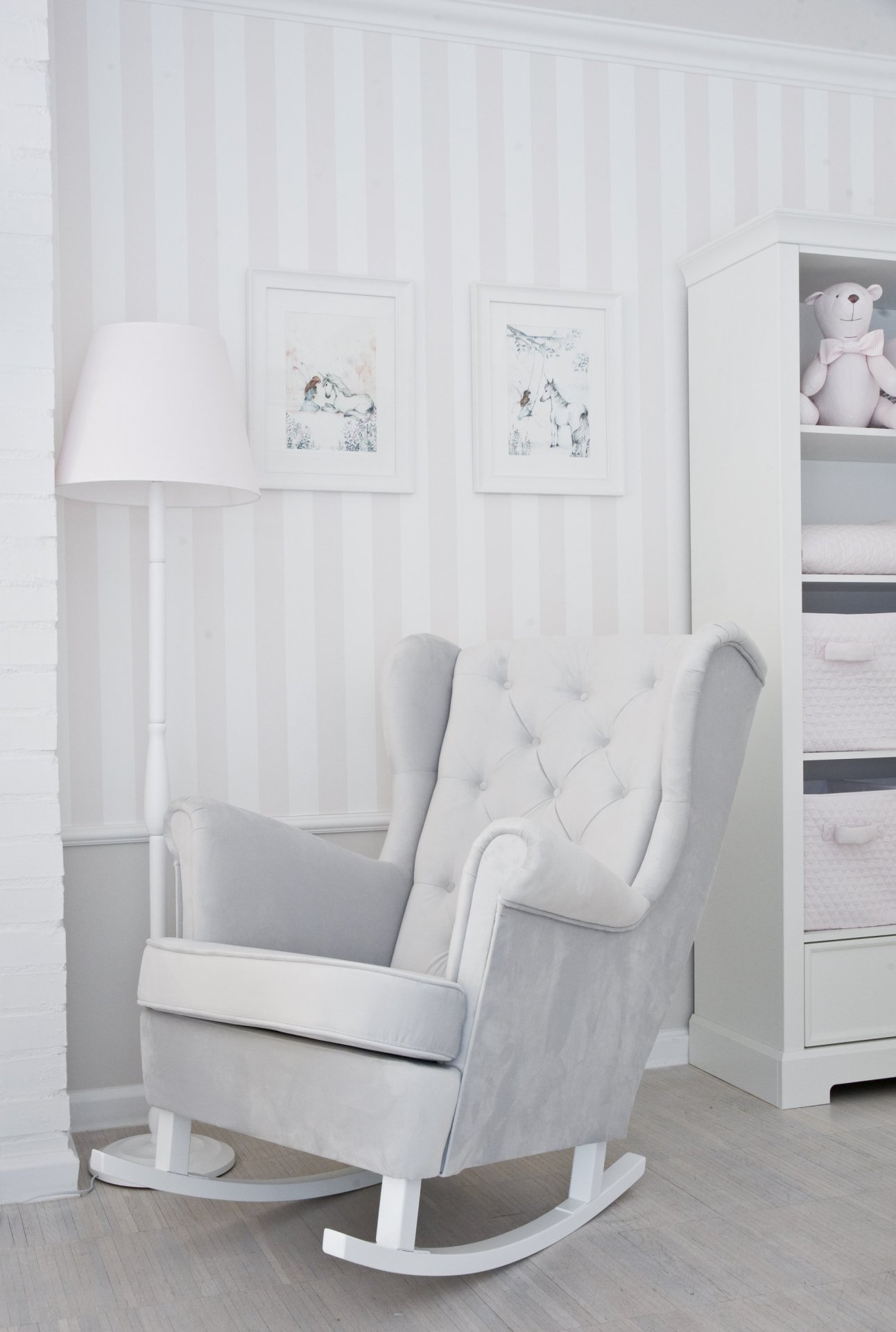 Caramella Grey Rocking Armchair Pertaining To Rocking Chairs Arm Chairs For Living And Nursery Room (View 4 of 20)