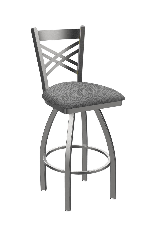 Catalina Swivel Stool #820 Inside Poppy Mission Espresso Rocking Chairs (#2 of 20)