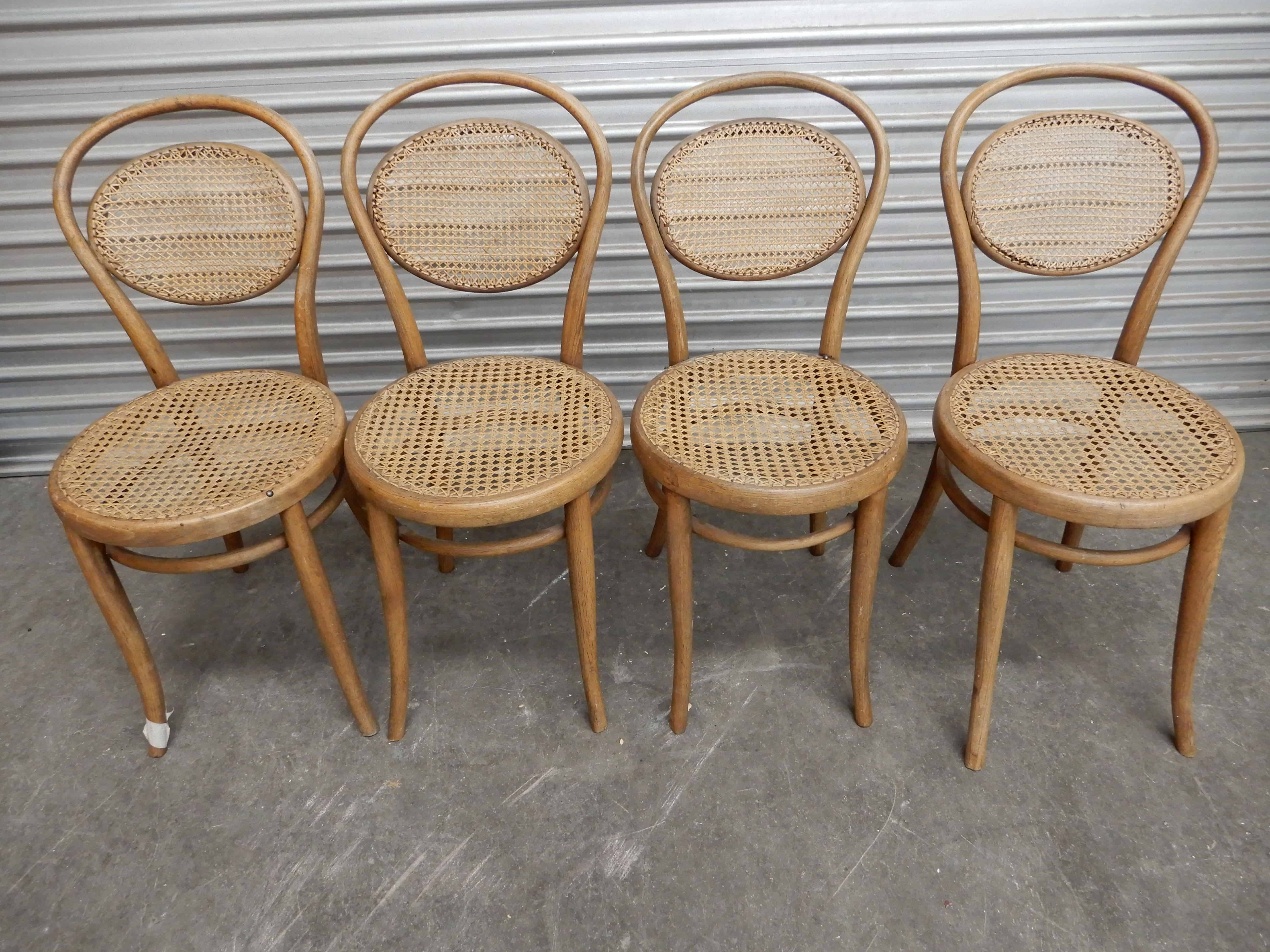 Chairs X 4 – Set Of 4 Original Bentwood Timber Chairs, 8M Within Mia Bentwood Chairs (#2 of 20)
