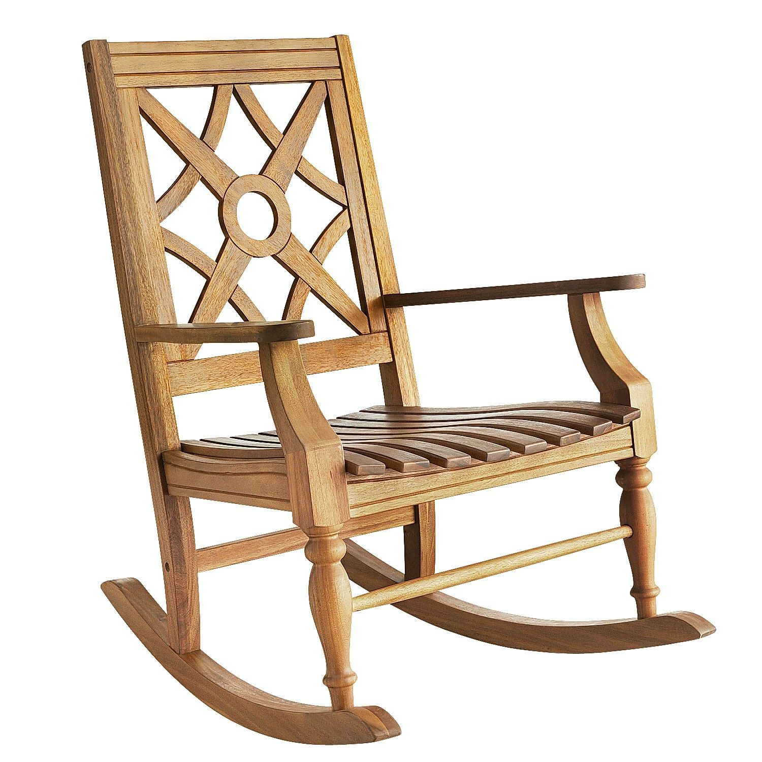 Chiara Wood Turned Leg Rocking Chair Brown   Products With Traditional Indoor Acacia Wood Rocking Chairs With Cushions (#7 of 20)