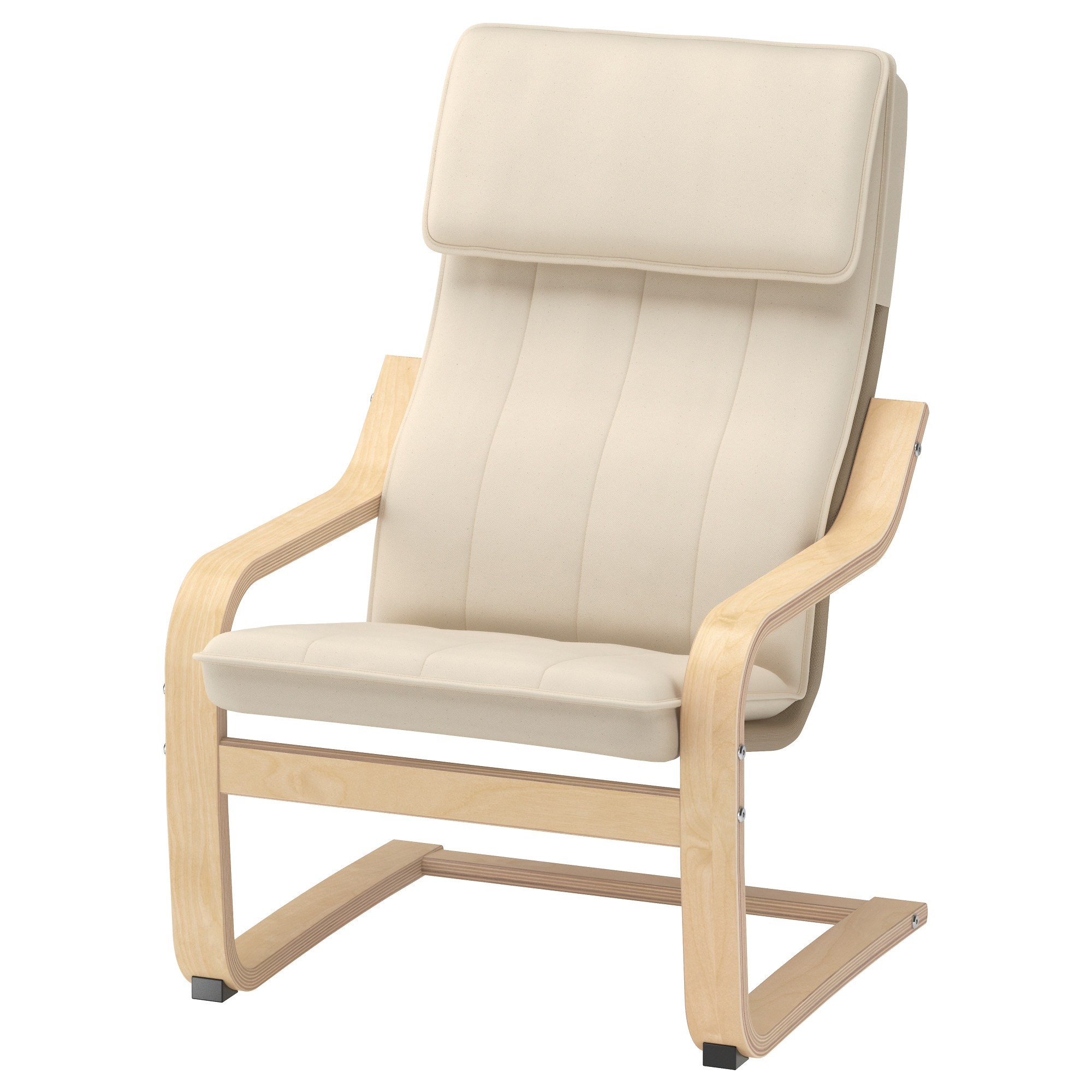 Children's Armchair Poäng Birch Veneer, Almås Natural In Rocking Chairs Arm Chairs For Living And Nursery Room (#6 of 20)