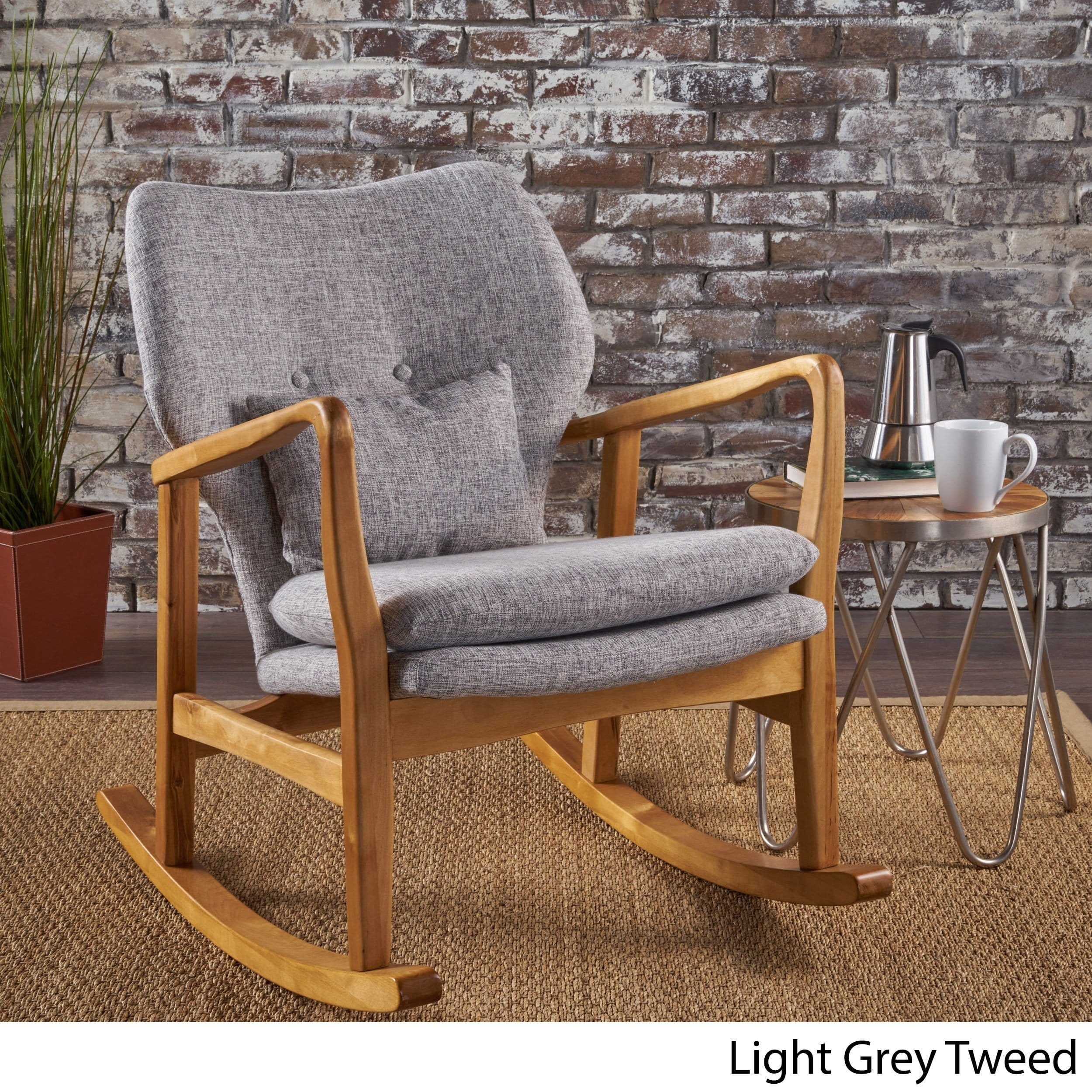 Christopher Knight Home Benny Mid Century Modern Fabric Rocking Chair By Within Mid Century Modern Fabric Rocking Chairs (View 10 of 20)