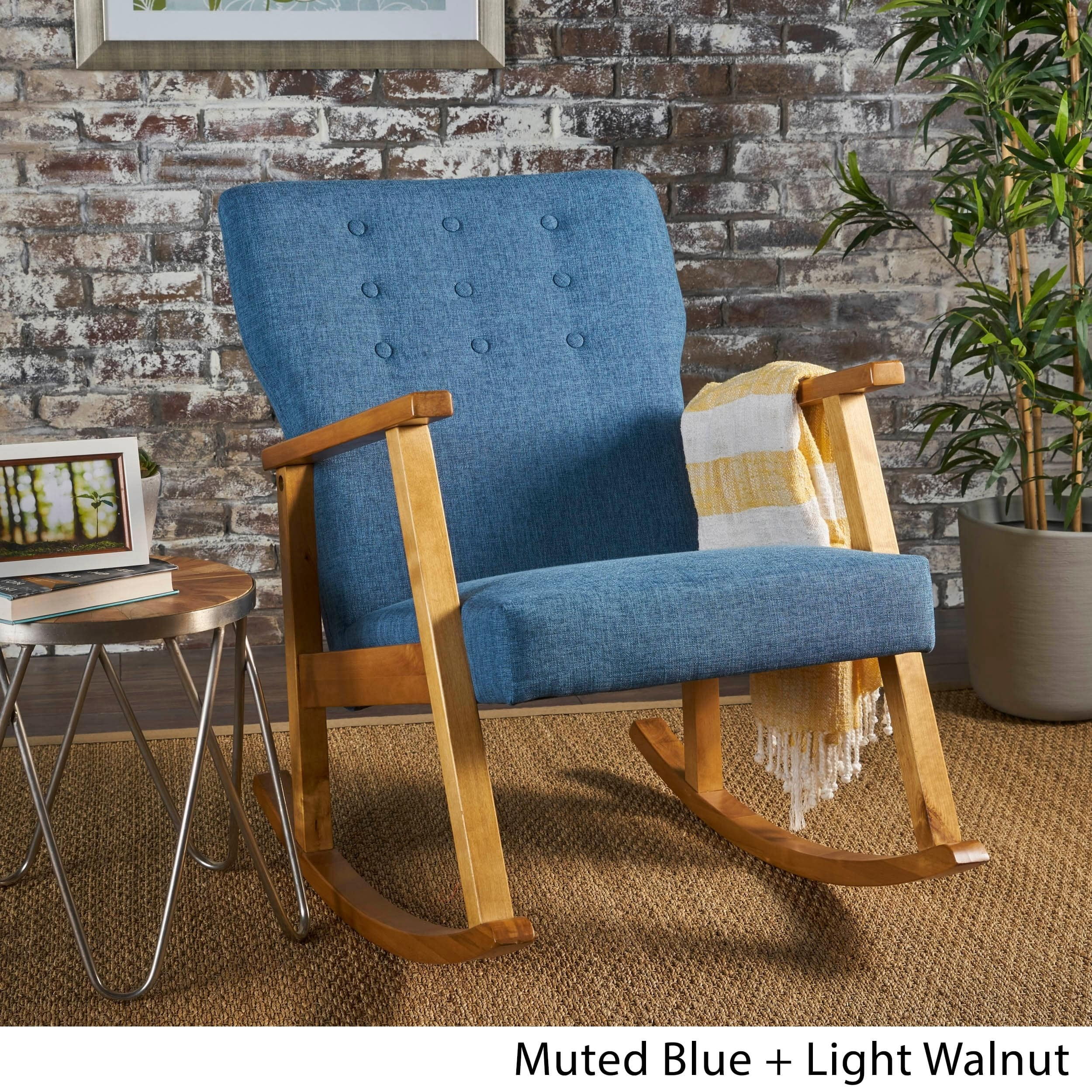Christopher Knight Home Harvey Mid Century Modern Fabric Rocking Chair By Within Harvey Mid Century Modern Fabric Rocking Chairs (View 2 of 20)