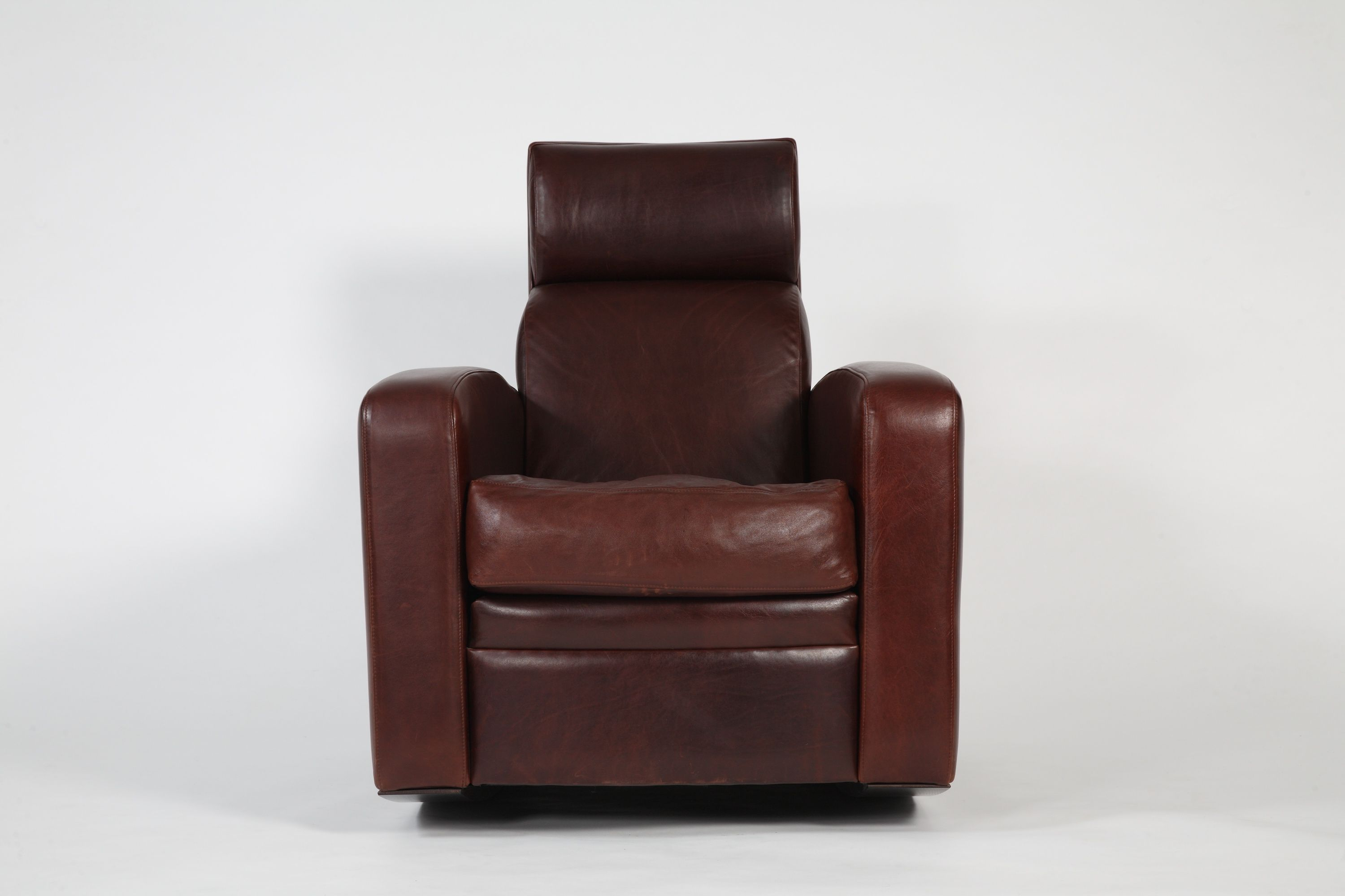 Classic Tobacco Club Chair With High Back | Club Rocker For Tobacco Rocking Chairs (#6 of 20)