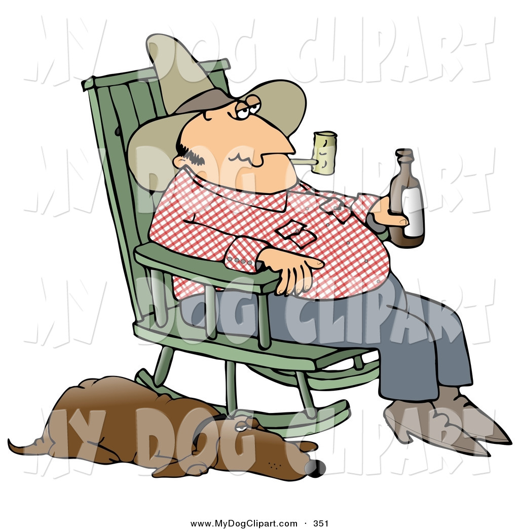 Clip Art Of A Relaxing White Hillbilly Smoking A Tobacco With Tobacco Rocking Chairs (#7 of 20)