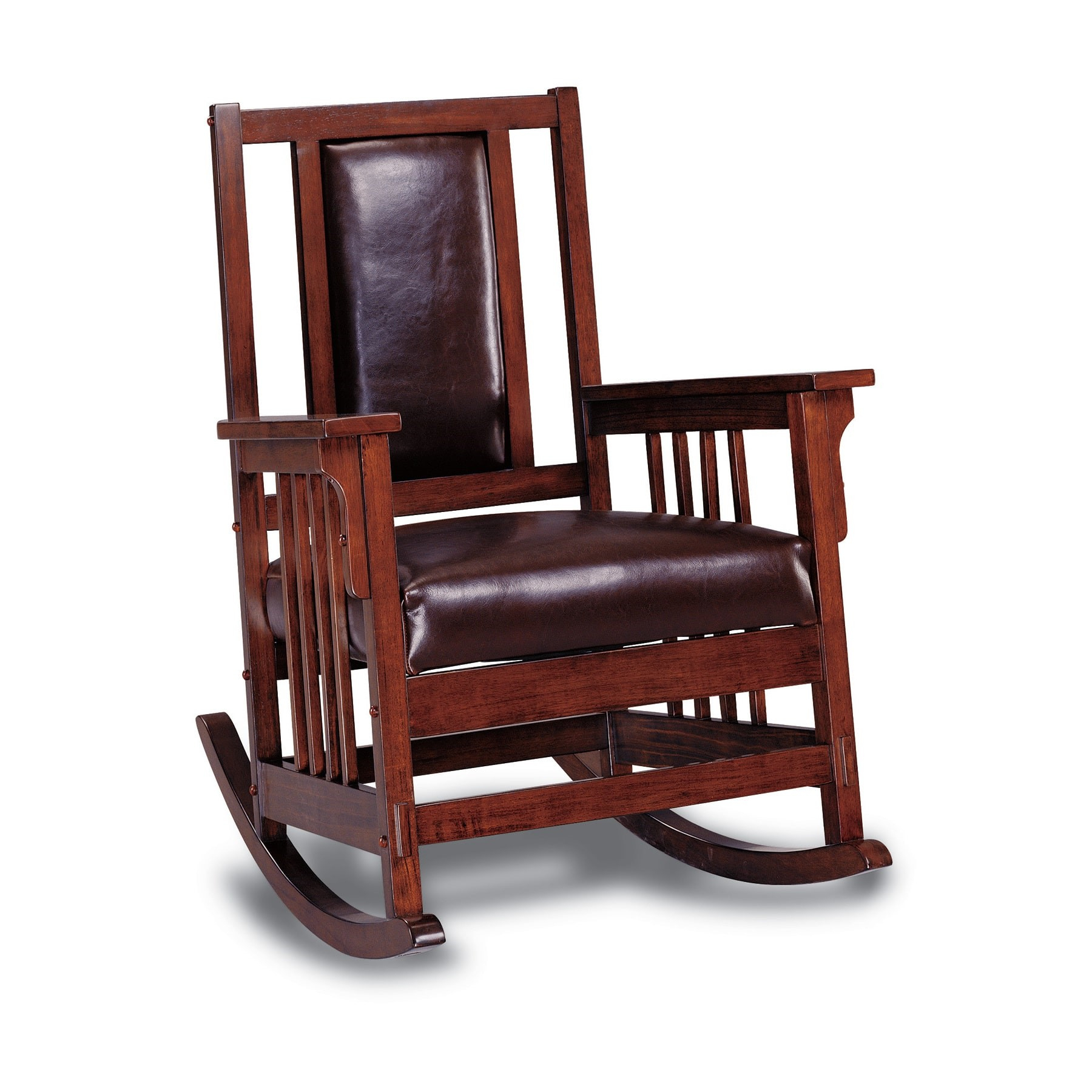 Popular Photo of Elegant Tobacco Brown Wooden Rocking Chairs