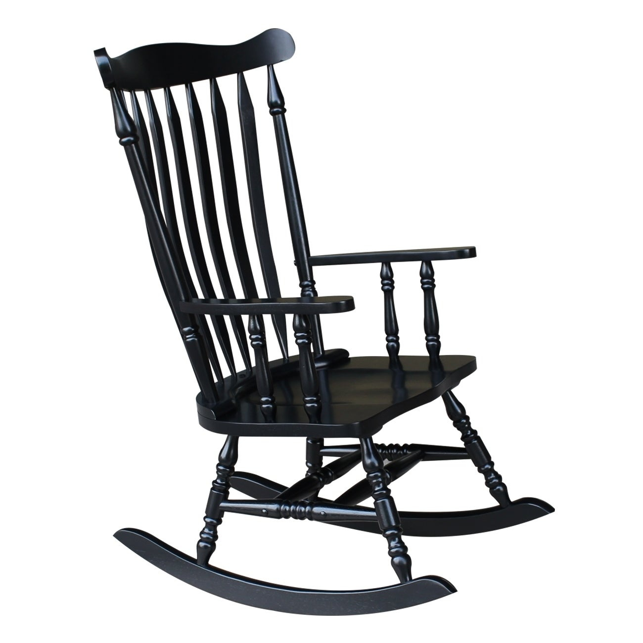 "Colonial Antique Black Rocking Chair – 28""w X 36""d X  (#7 of 20)"