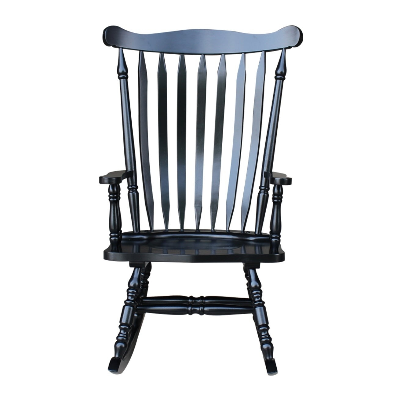 "Colonial Antique Black Rocking Chair – 28""w X 36""d X  (#8 of 20)"