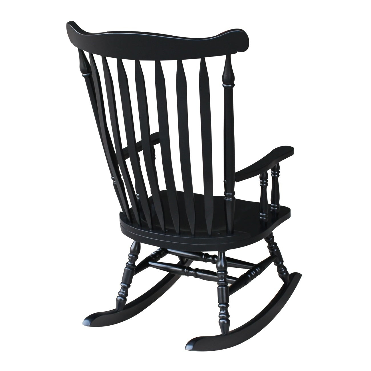 "Colonial Antique Black Rocking Chair – 28""w X 36""d X  (#10 of 20)"