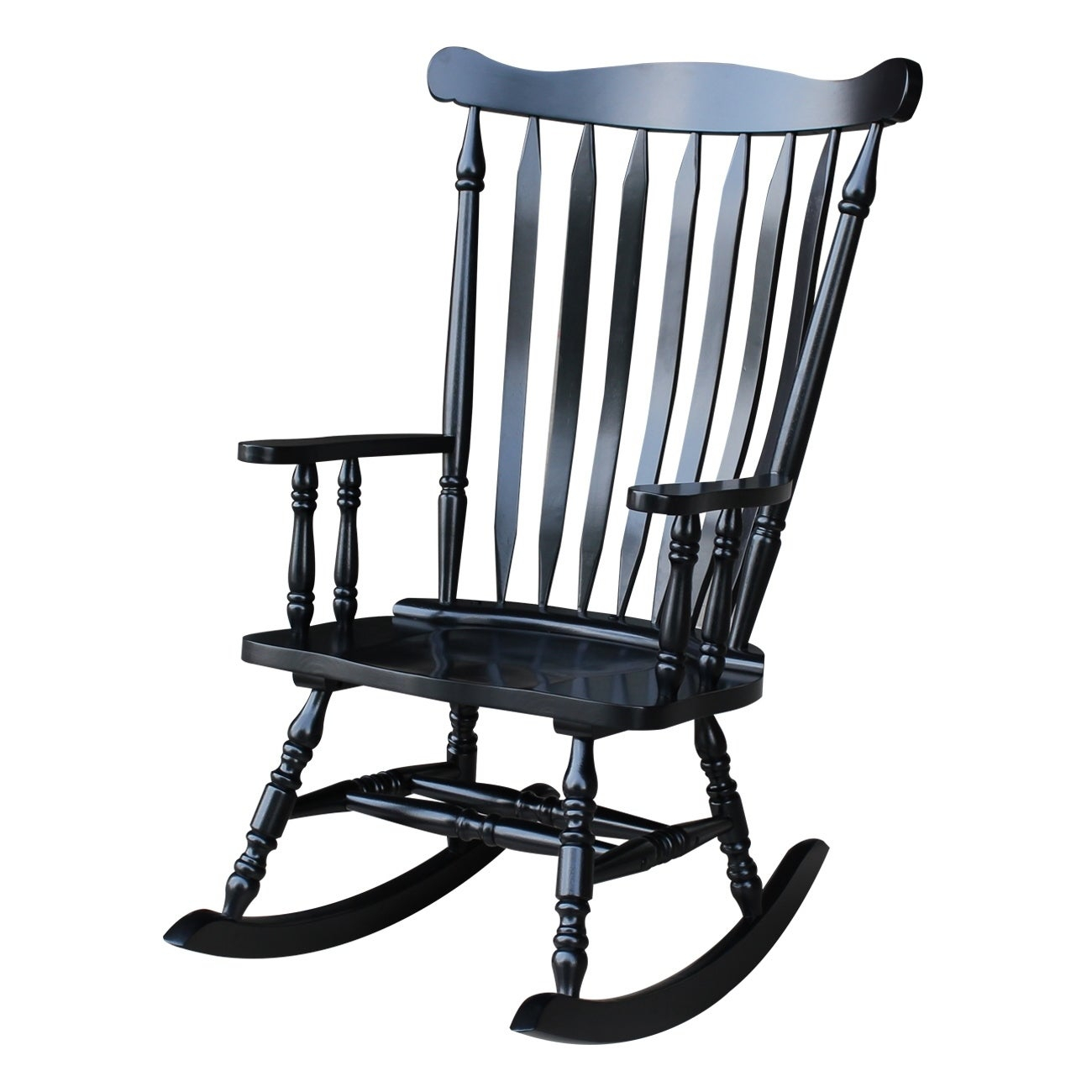 Popular Photo of Colonial Antique Black Rocking Chairs