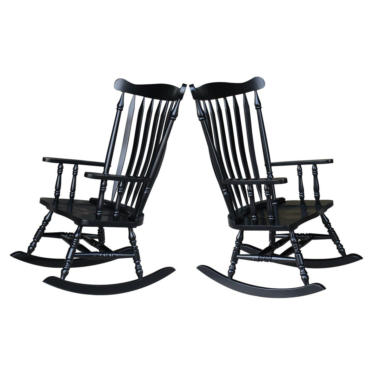 "Colonial Antique Black Rocking Chair – 28""w X 36""d X  (#11 of 20)"