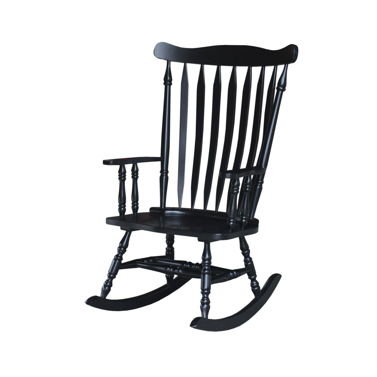"""Colonial Antique Black Rocking Chair – 28""""w X 36""""d X  (#2 of 20)"""
