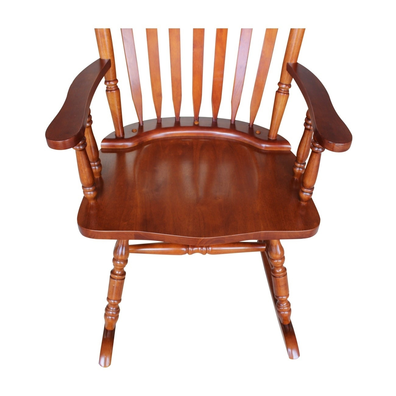 "Colonial Cherry Finish Rocking Chair – 28""w X 36""d X  (#6 of 20)"