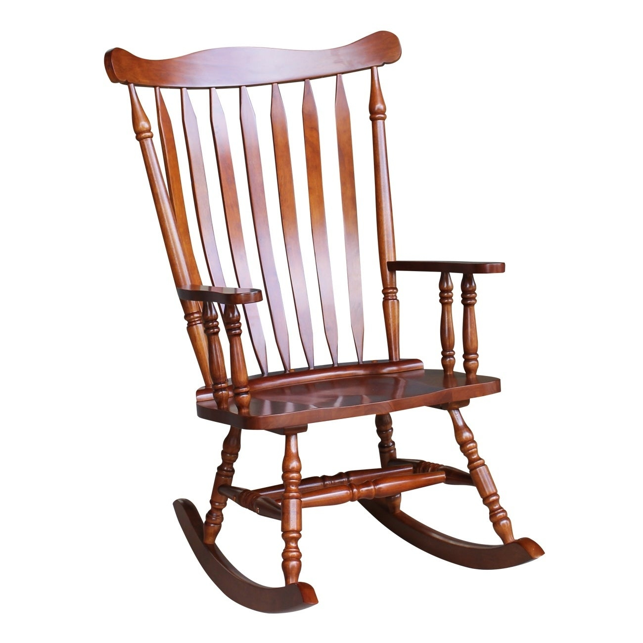 "Colonial Cherry Finish Rocking Chair – 28""w X 36""d X  (#14 of 20)"