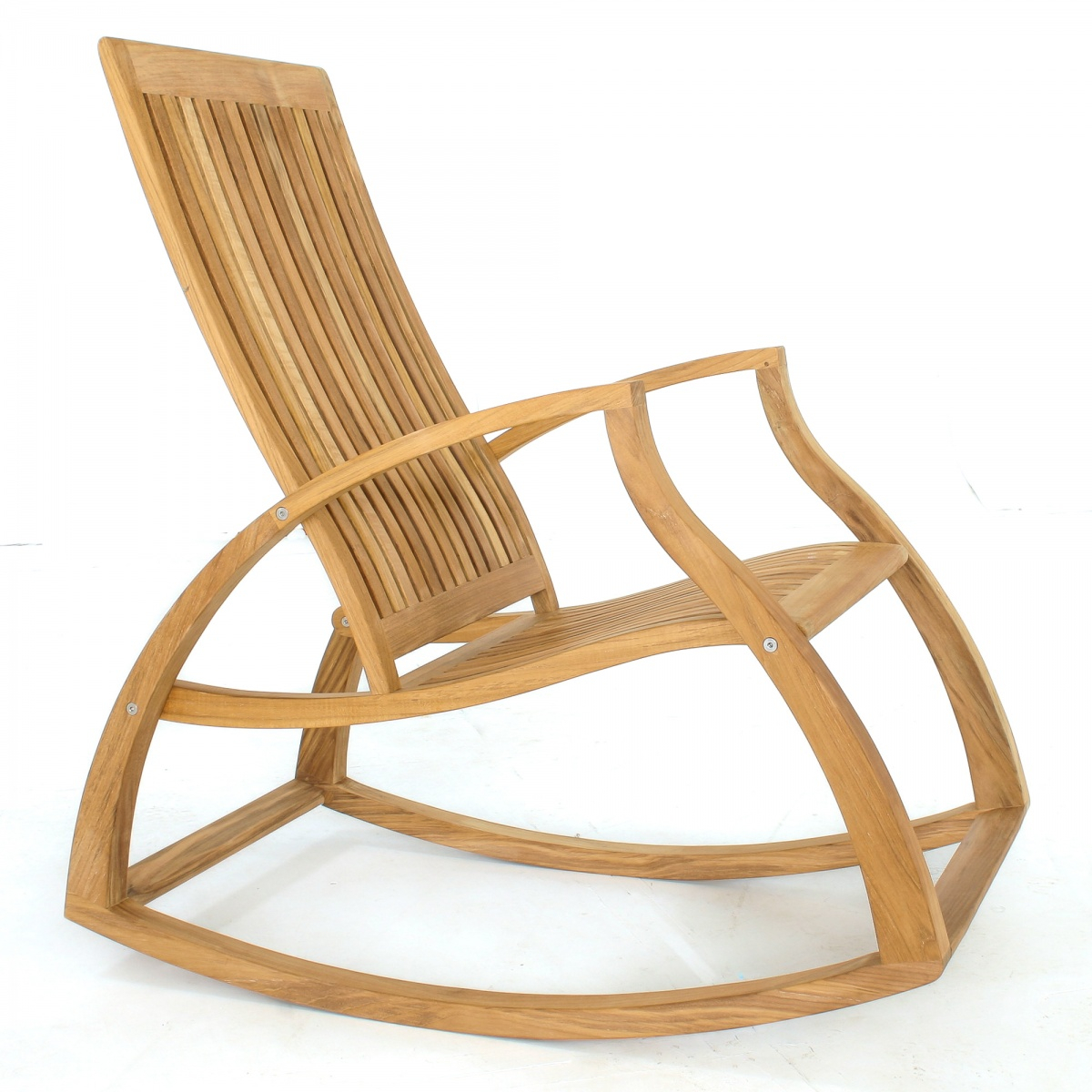 Contemporary Modern Teak Rocking Chair Inside Luxury Mission Style Rocking Chairs (#8 of 20)