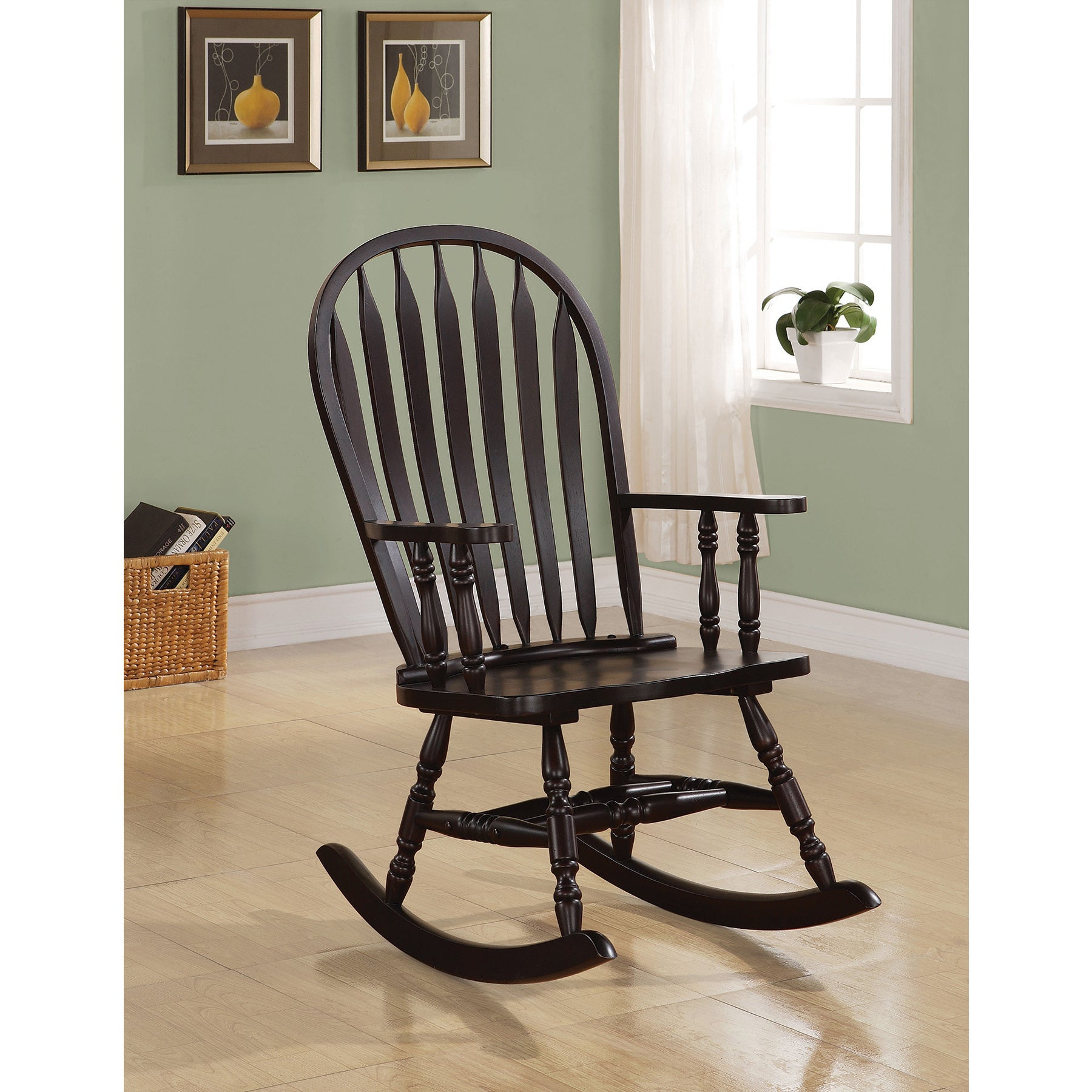 Popular Photo of Cappuccino Curved Rocking Chairs
