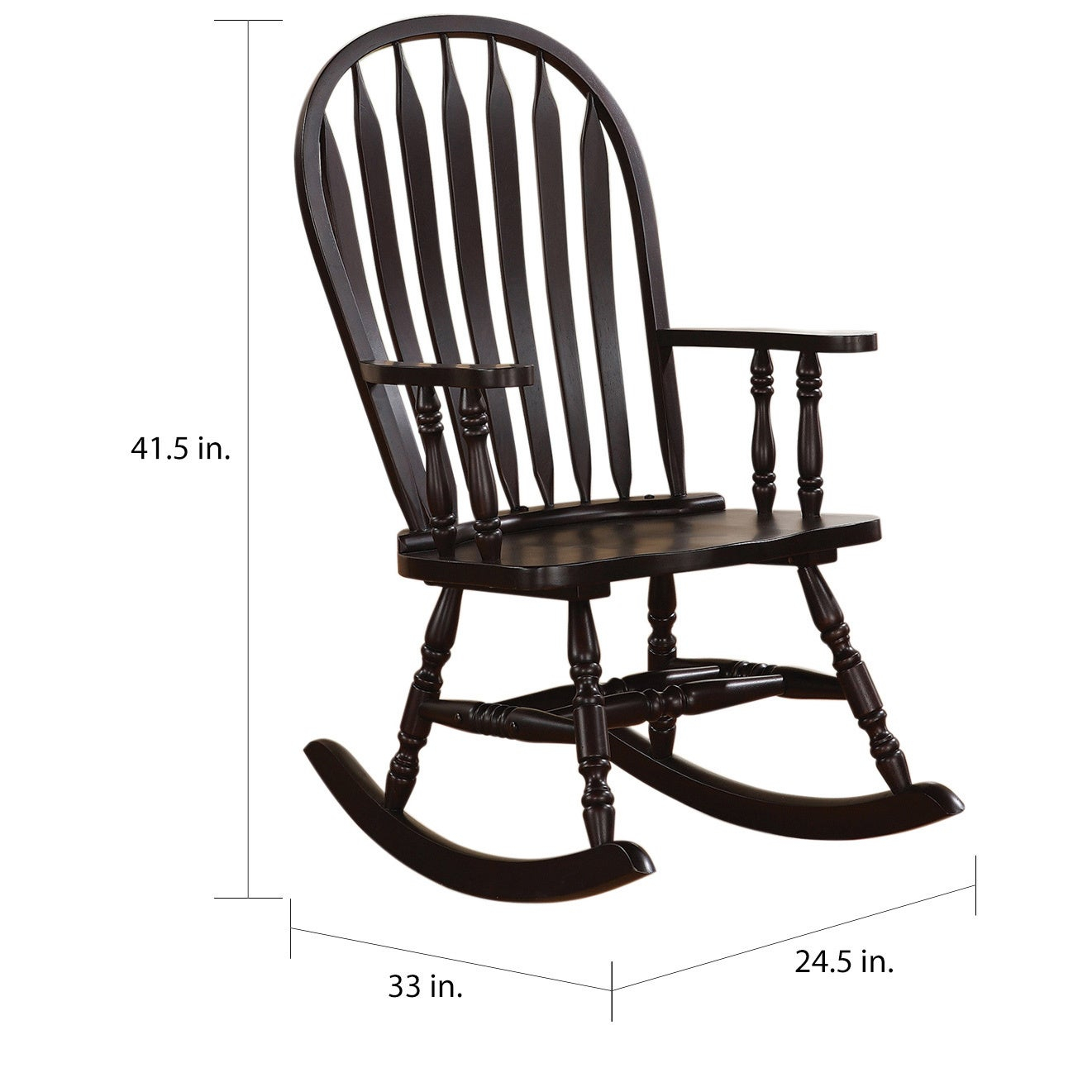 Copper Grove Pittock Cappuccino Curved Rocking Chair Inside Radford Traditional Rocking Chairs (#10 of 20)