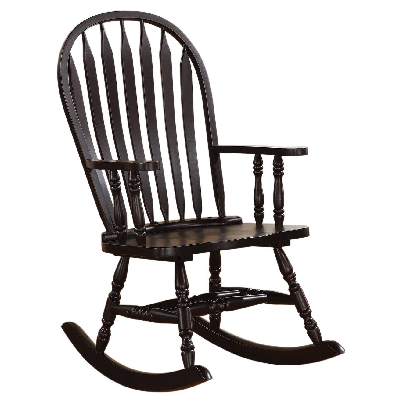 Copper Grove Pittock Cappuccino Curved Rocking Chair With Regard To Cappuccino Curved Rocking Chairs (#7 of 20)