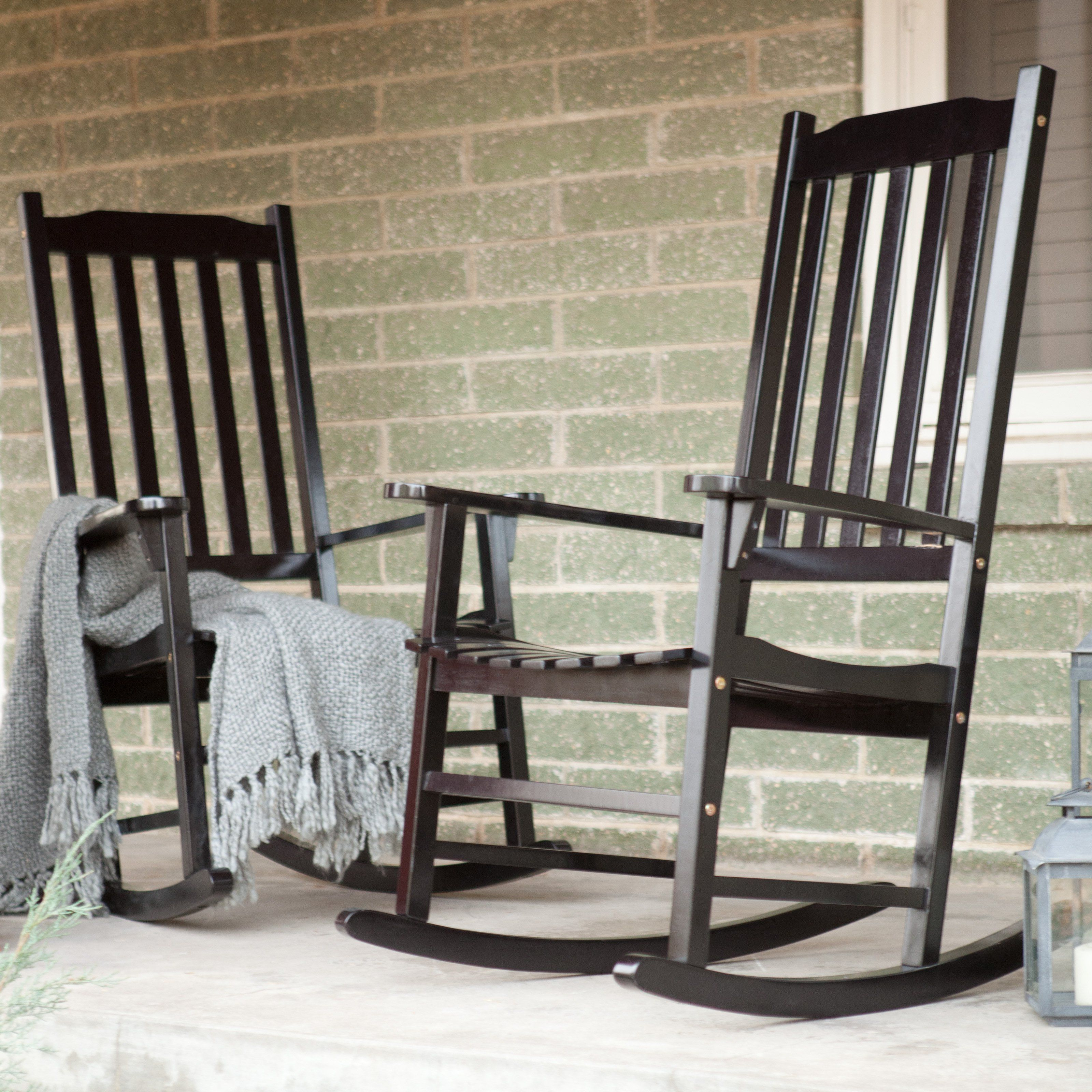 Coral Coast Indoor/outdoor Mission Slat Rocking Chairs Pertaining To Indoor / Outdoor Porch Slat Rocking Chairs (#8 of 20)