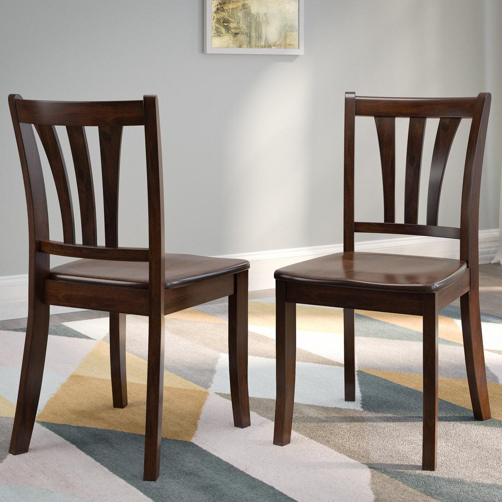 Corliving Dillon Cappuccino Stained Solid Wood Curved Throughout Cappuccino Curved Rocking Chairs (#8 of 20)
