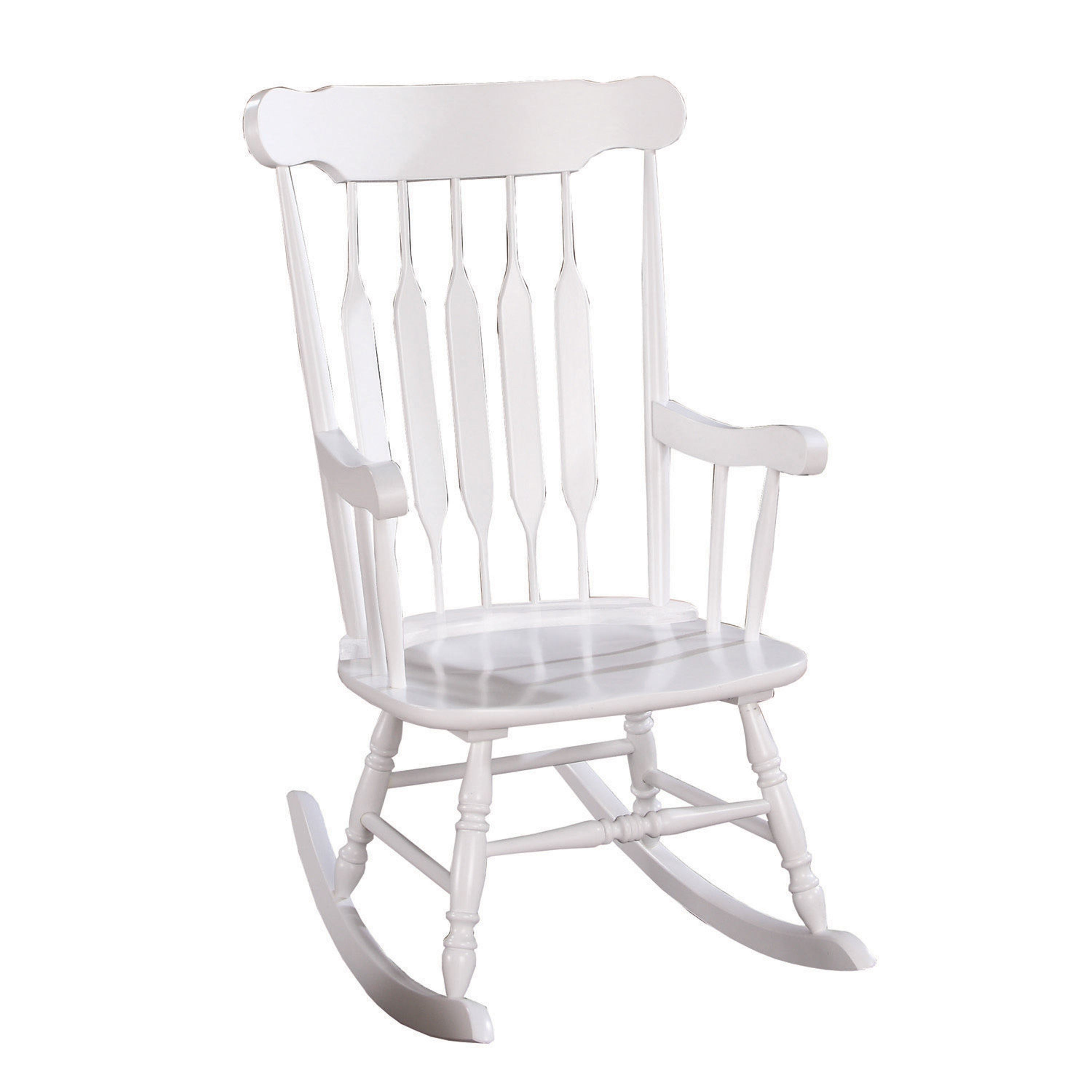 Country Style White Rocking Chair In Brady Traditional White Rocking Chairs (#8 of 20)