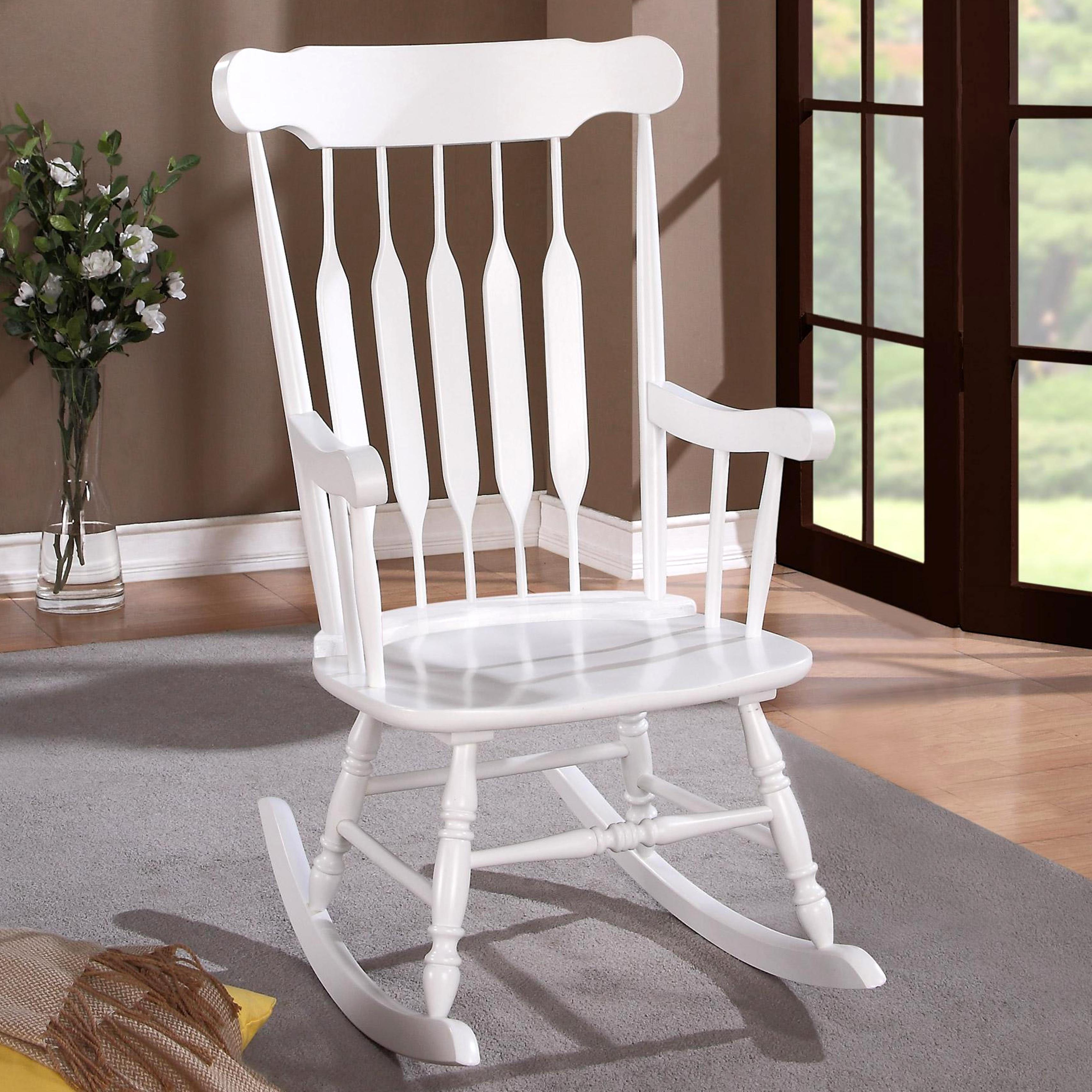 Country Style White Rocking Chair Regarding Brady Traditional White Rocking Chairs (#9 of 20)