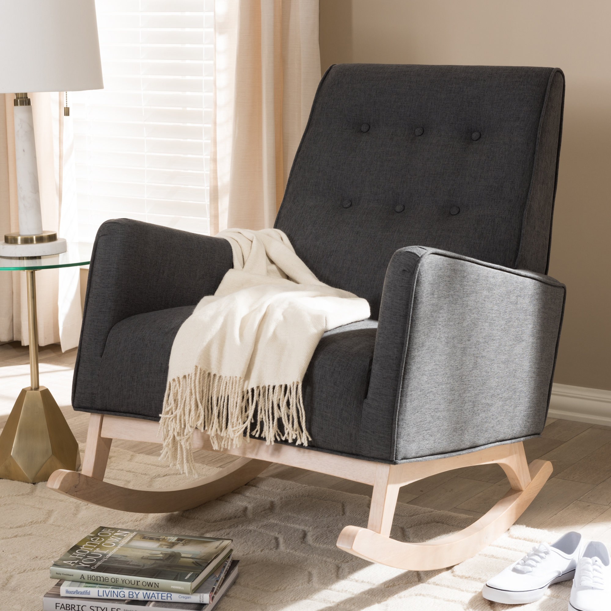 Cranford Rocking Chair For Black Rubberwood Rocking Chairs (#3 of 20)