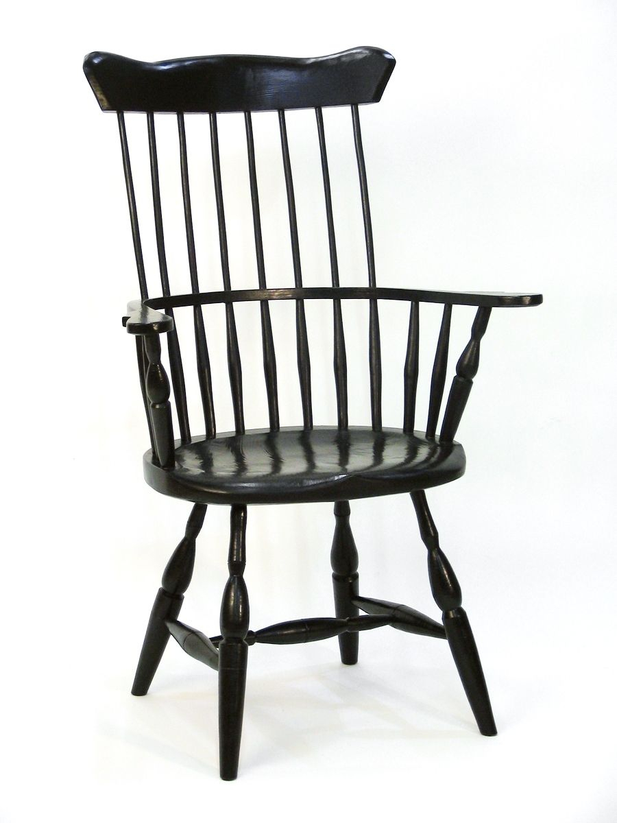Custom American High Back Windsor Chairsilvertree For Black Back Windsor Rocking Chairs (#7 of 20)