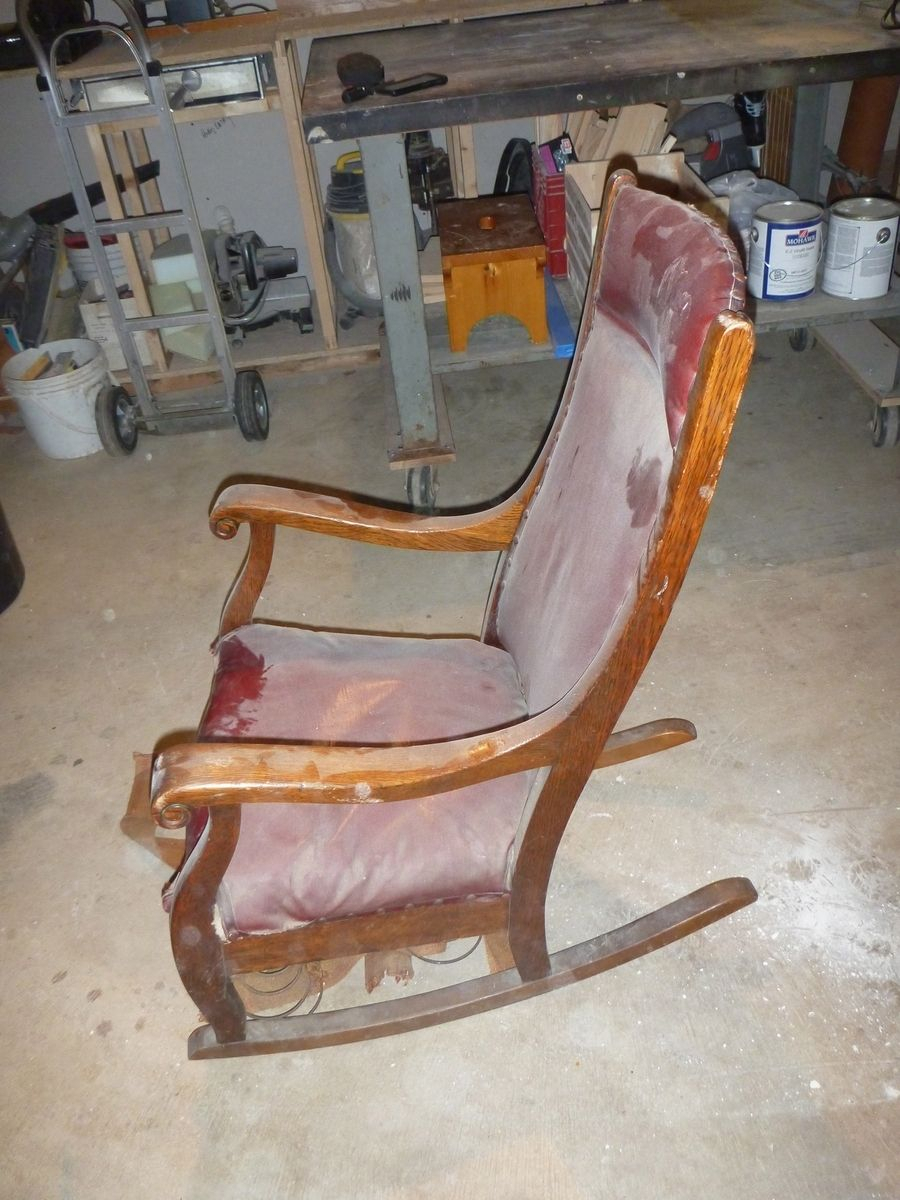 Custom Made Antique Oak Rocking Chairjp Design (#12 of 20)