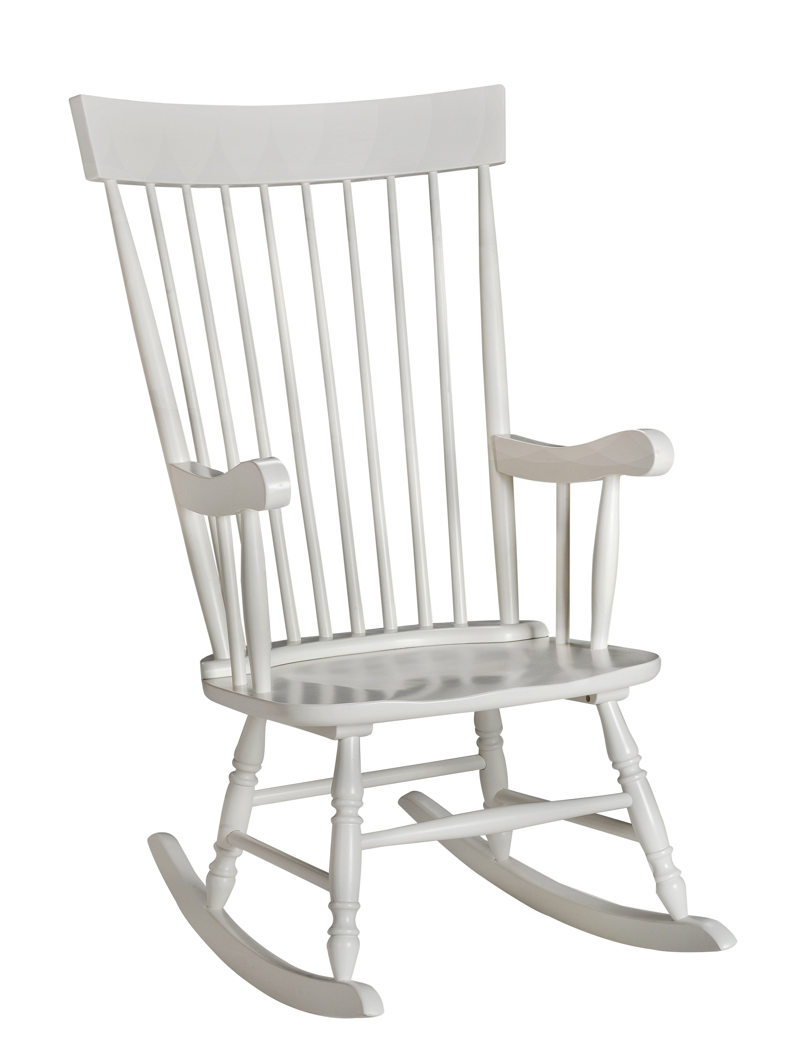 Inspiration about Danvers Rocking Chair In Traditional Style Wooden Rocking Chairs With Contoured Seat, Black (#7 of 20)