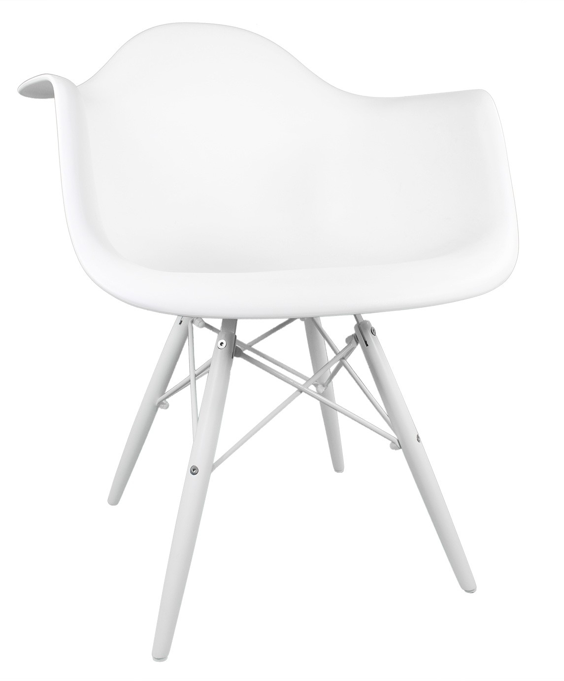 Inspiration about Daw White Plastic Accent Arm Chair With White Wood Eiffel Legs In Plastic Arm Chairs With Rocking Legs (#11 of 20)