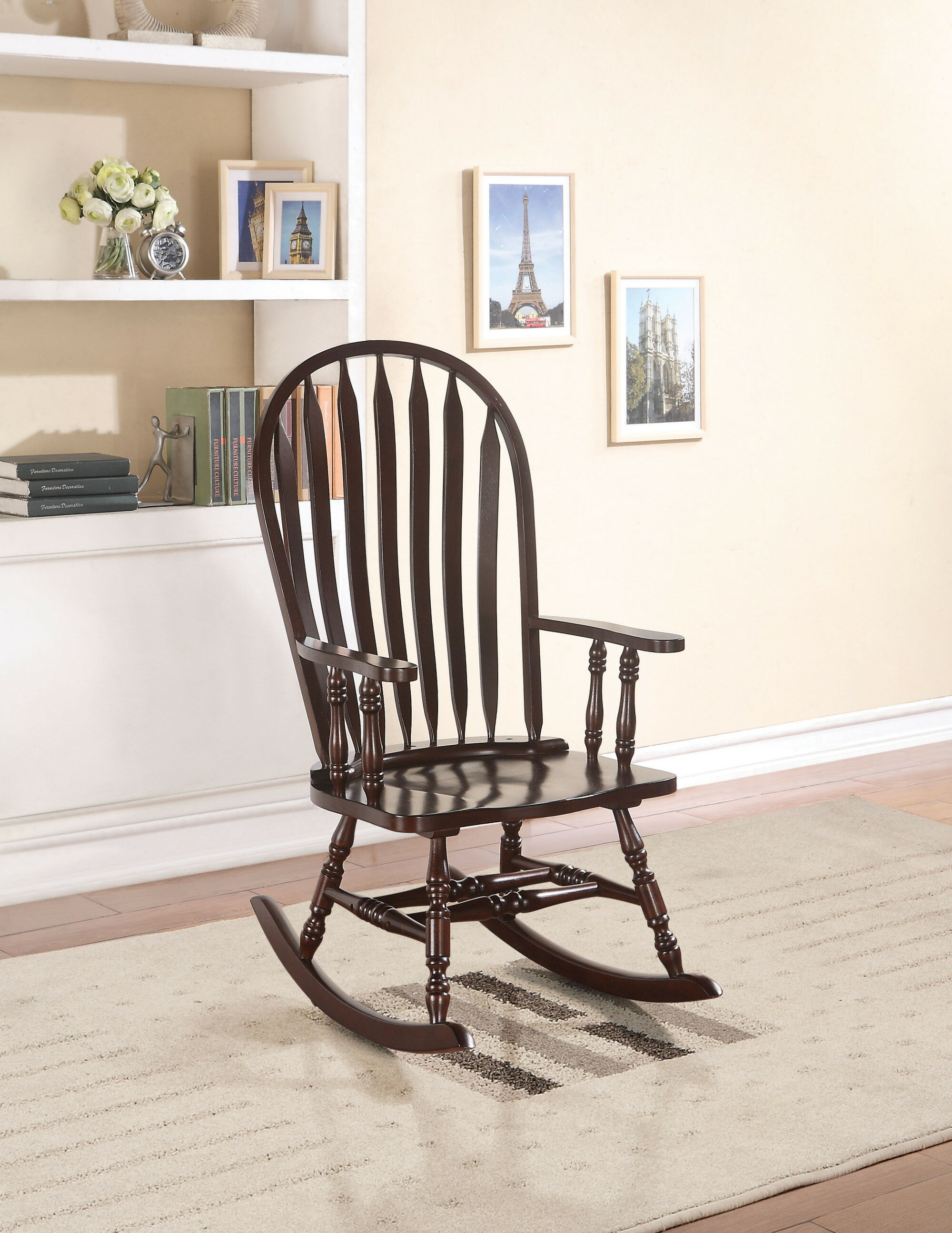 Inspiration about Deadra Rocking Chair Pertaining To Cappuccino Curved Rocking Chairs (#9 of 20)