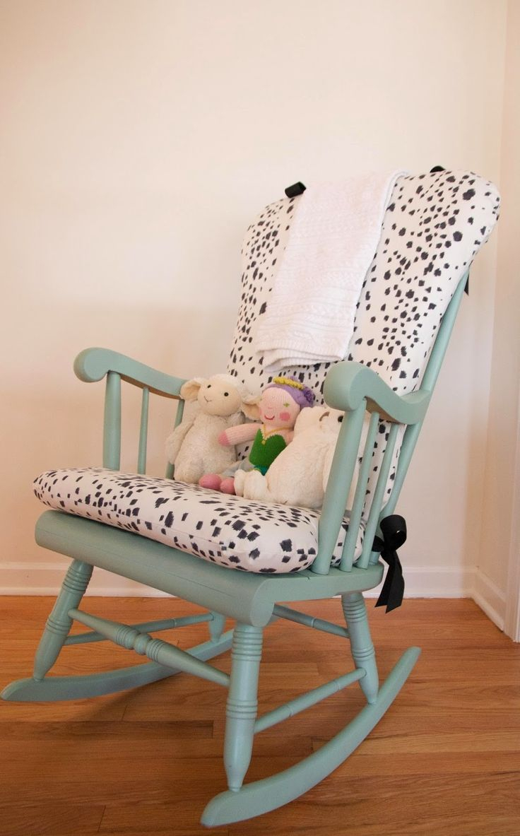 Design: Make Your Chair A More Comfortable With Windsor With Wooden Rocking Chairs With Fabric Upholstered Cushions, White (View 6 of 20)