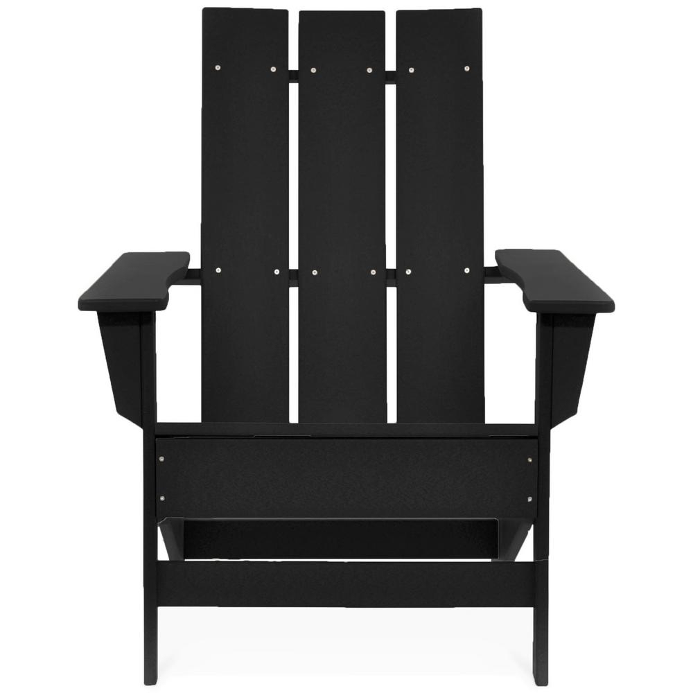 Inspiration about Durogreen Aria Black Recycled Plastic Modern Adirondack Chair For Aria Antique Grey Rocking Chairs (#20 of 20)