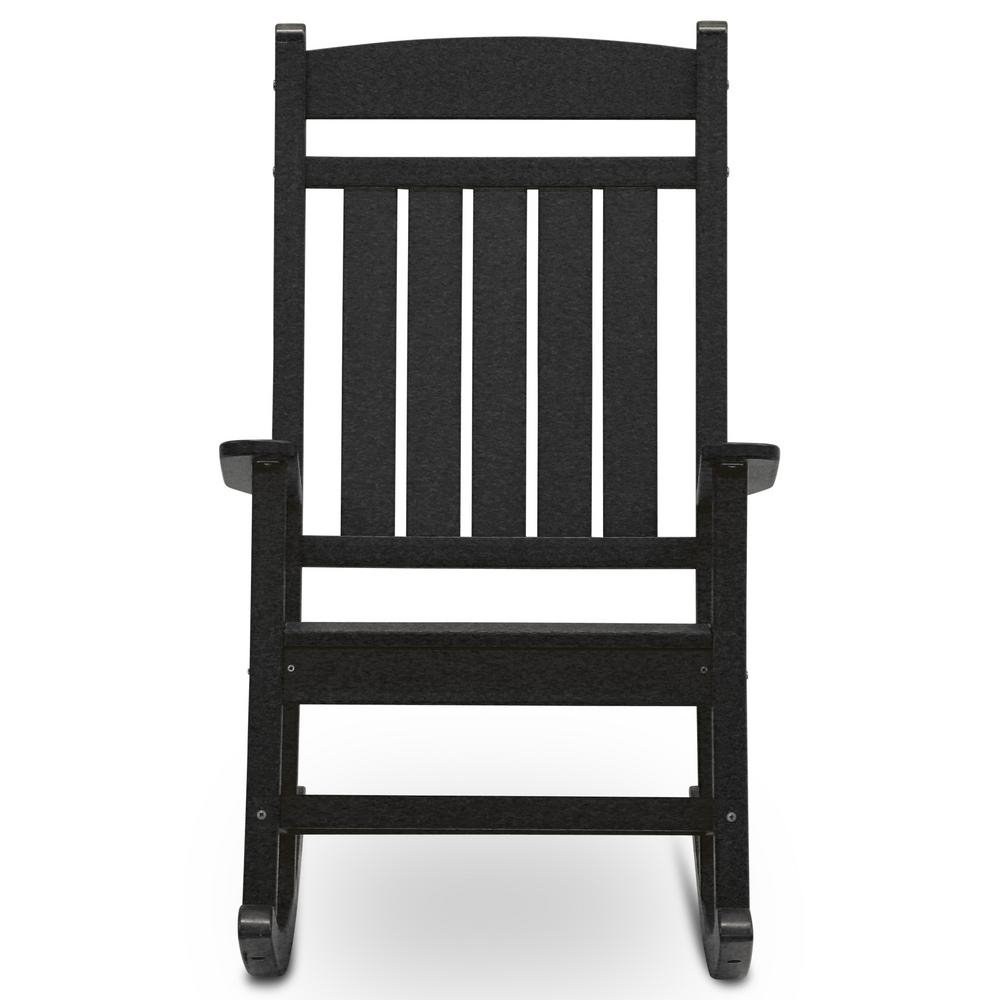 Inspiration about Durogreen Classic Rocker Black Plastic Outdoor Rocking Chair For Black Plastic Rocking Chairs (#3 of 20)