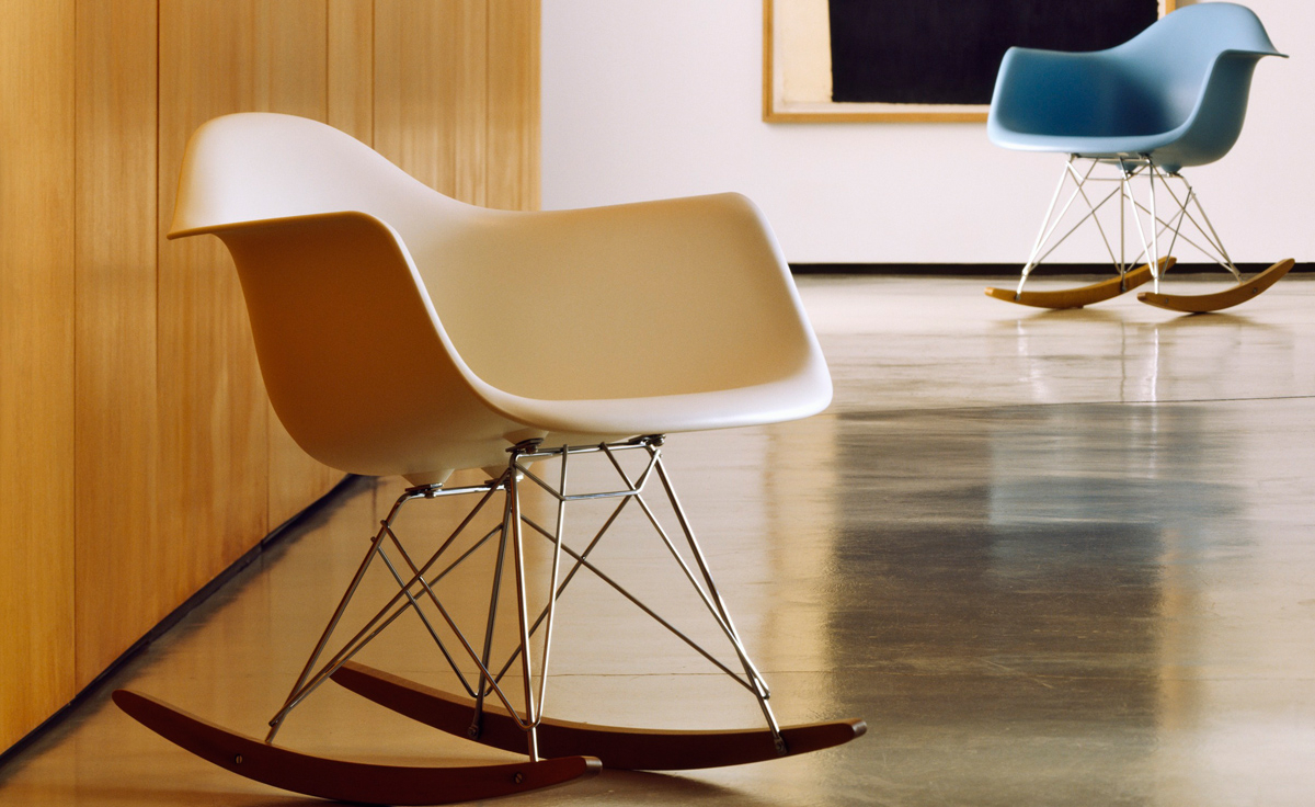 Eames® Molded Plastic Armchair With Rocker Base Intended For Plastic Arm Chairs With Rocking Legs (View 5 of 20)