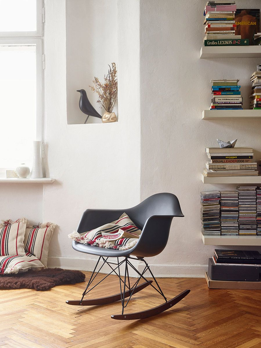Eames Rar Rocking Chair – Black Version | Design In 2019 With Black Plastic Rocking Chairs (#4 of 20)