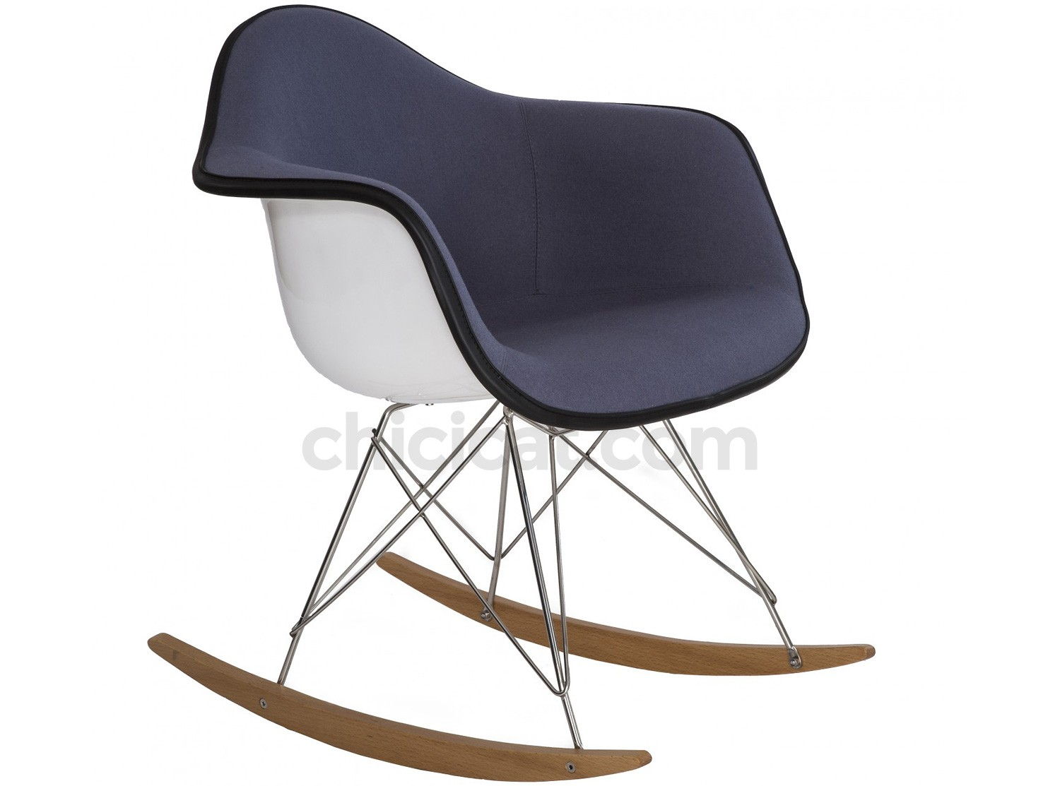Eames Rar Rocking Chair Upholstered (Collector Replica) With Regard To Padded Rocking Chairs (#8 of 20)