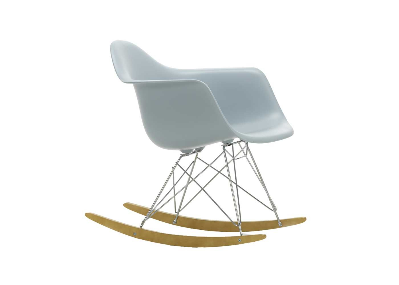 Eames Rar Rocking Chair With Rocking Chairs In Cream Fabric And White (#10 of 20)