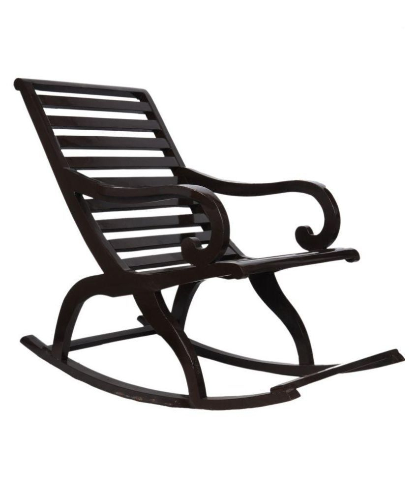 Eliza Teakwood Rocking Chair In Walnut Finishconfortofurnishing With Regard To Walnut Wood Rocking Chairs (View 16 of 20)