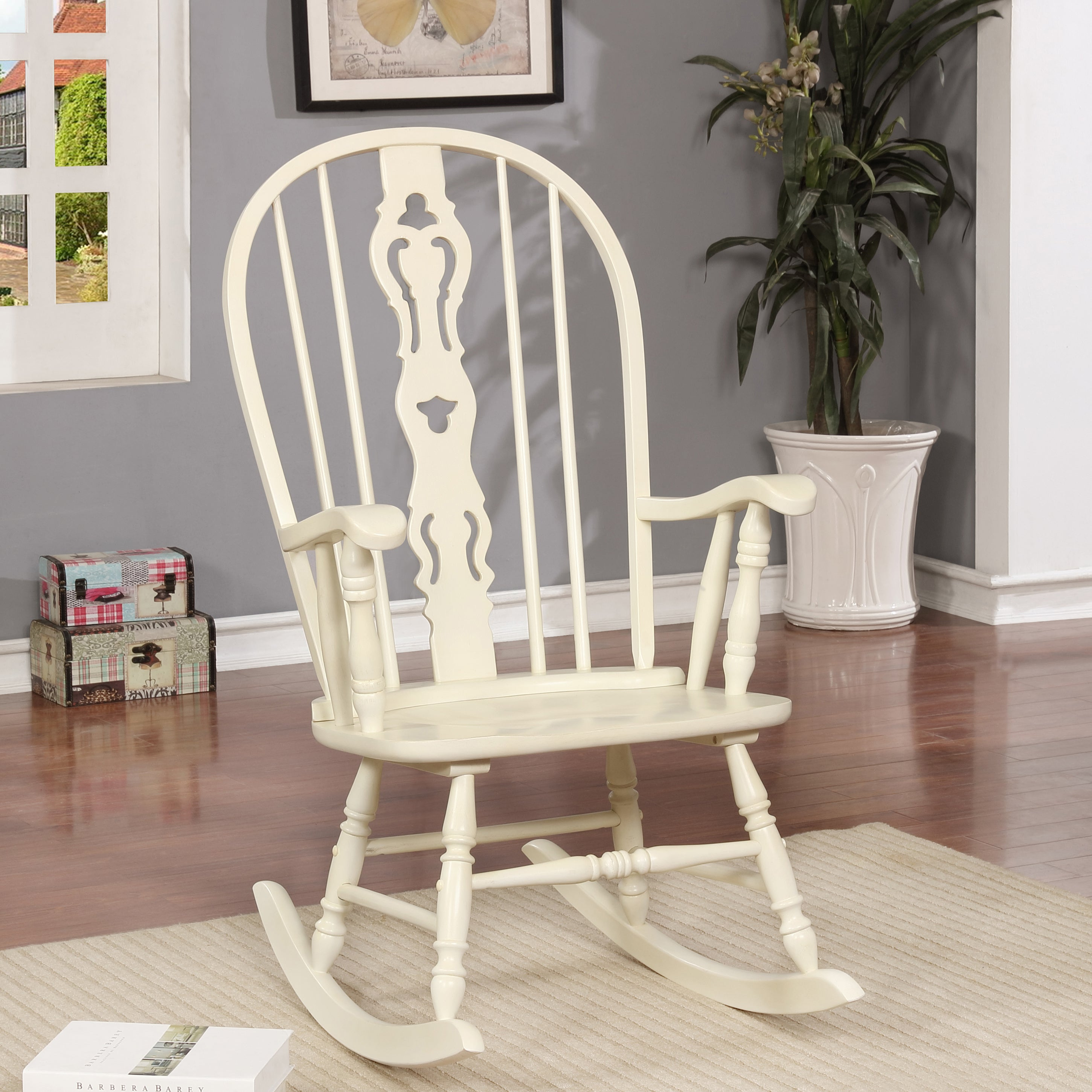 Popular Photo of Ethel Country White Rocking Chairs