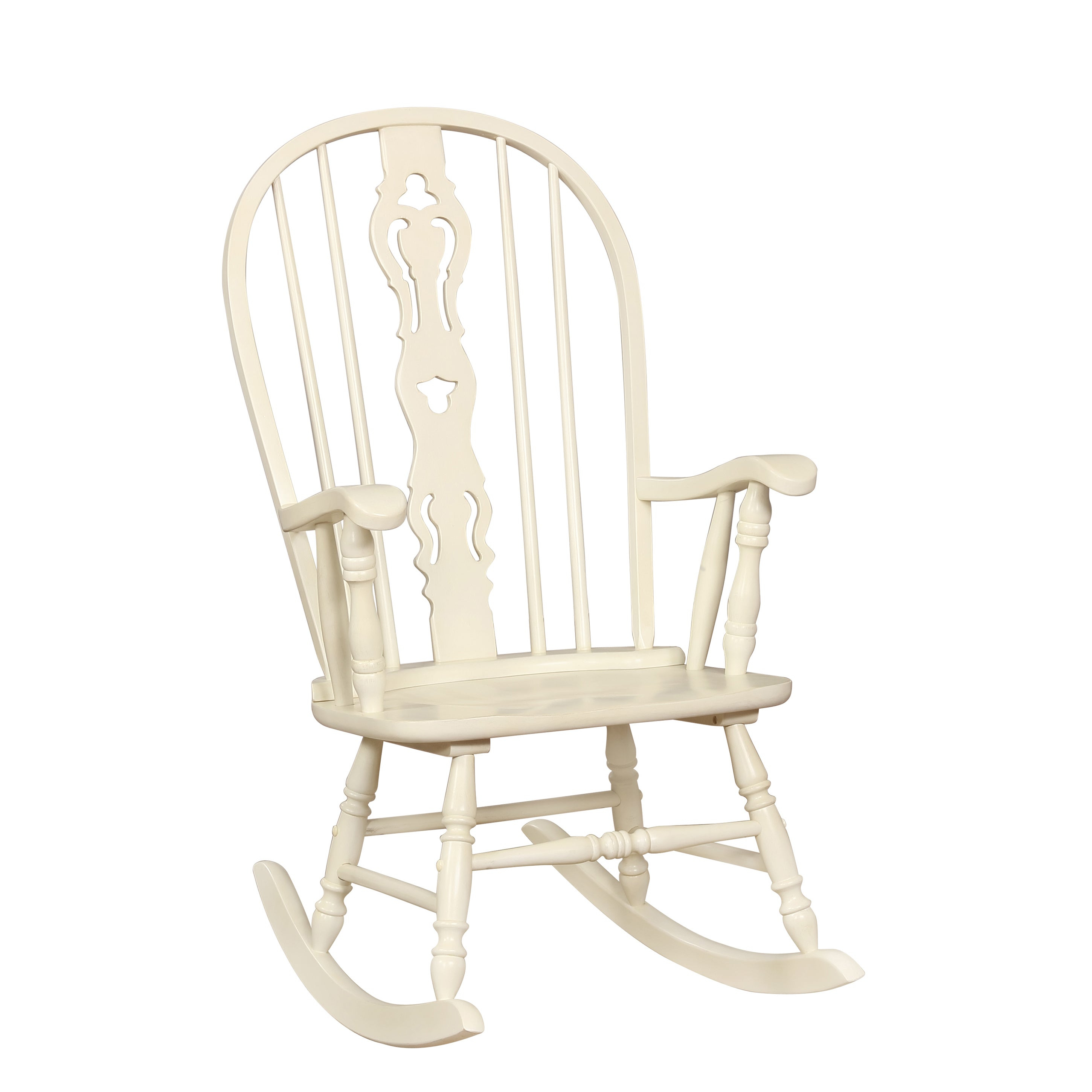 Ethel Country White Rocking Chairfoa Inside Ethel Country White Rocking Chairs (View 9 of 20)