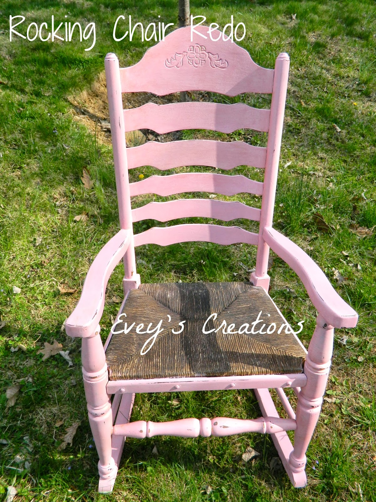 """Evey's Creations: """"inspiredmom"""" Rocking Chair Redo  The Regarding Dover Bentwood Rocking Chairs (#11 of 20)"""