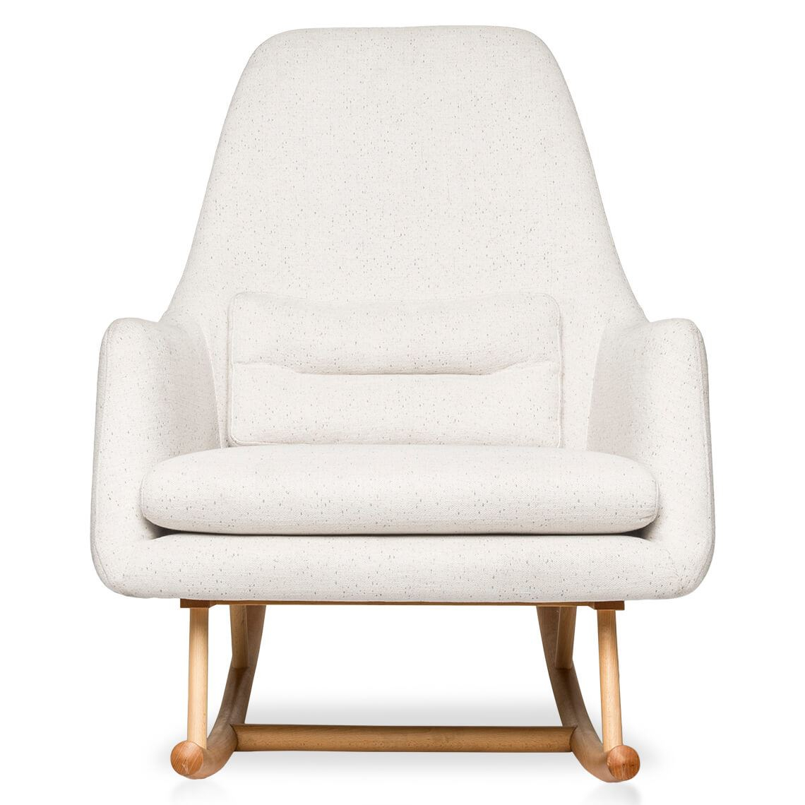 Evie Fabric Rocking Chair With Regard To Wooden Rocking Chairs With Fabric Upholstered Cushions, White (View 8 of 20)