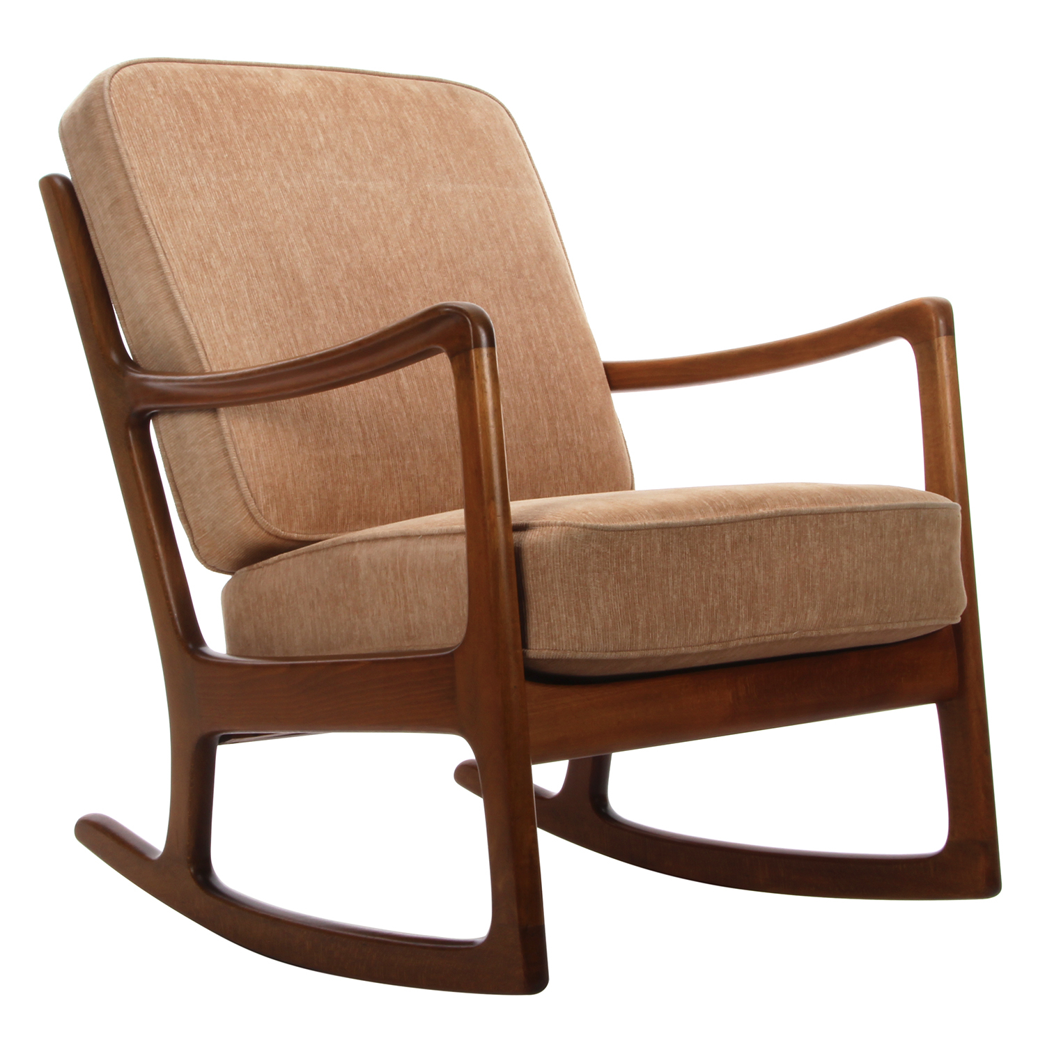 Fd 108 Rocking Chair In Nevies Mid Century Modern Fabric Rocking Chairs (#3 of 20)