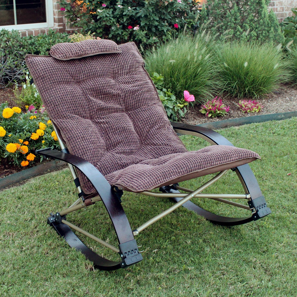 Popular Photo of Folding Bentwood Rocking Chairs With Extendable Footrest And Removable Cover