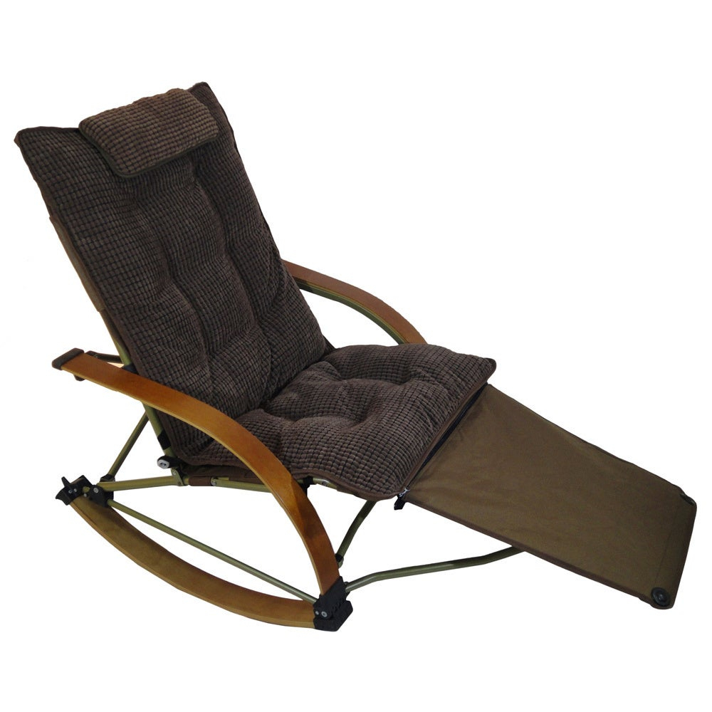 Folding Bentwood Rocking Chair With Extendable Footrest And Removable Cover With Regard To Folding Bentwood Rocking Chairs With Extendable Footrest And Removable Cover (#15 of 20)