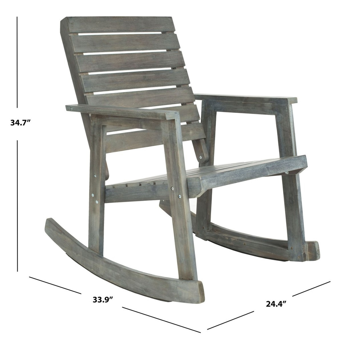Fox6702A Outdoor Rocking Chairs, Rocking Chairs – Furniture With Regard To Traditional Indoor Acacia Wood Rocking Chairs With Cushions (#11 of 20)
