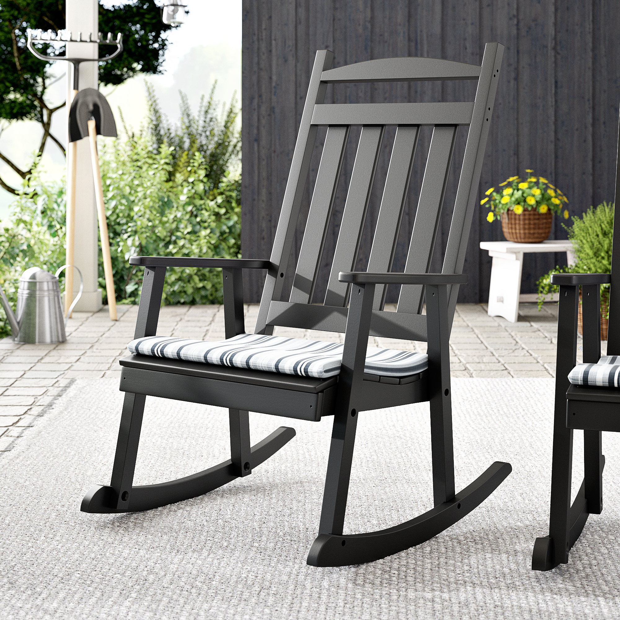 Front Porch Rocking Chair | Wayfair Inside Traditional Wooden Porch Rocking Chairs (#6 of 20)